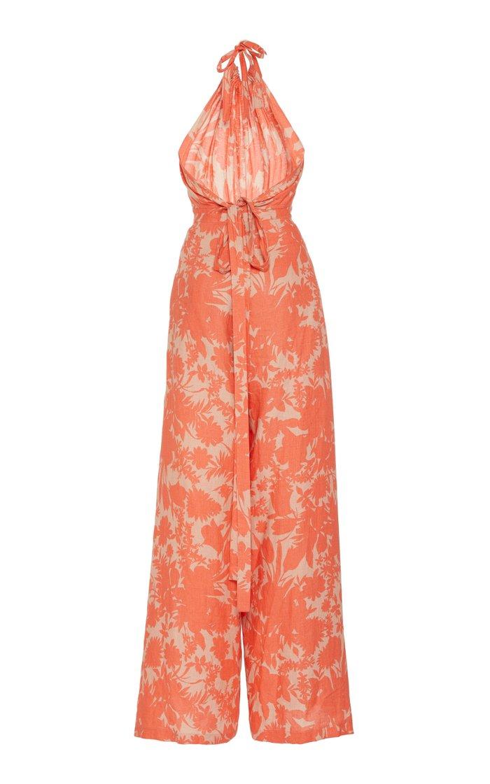 Shasta Printed Cotton Jumpsuit