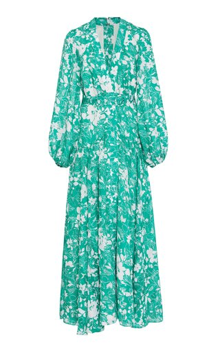 Kazmera Printed Crepe Dress