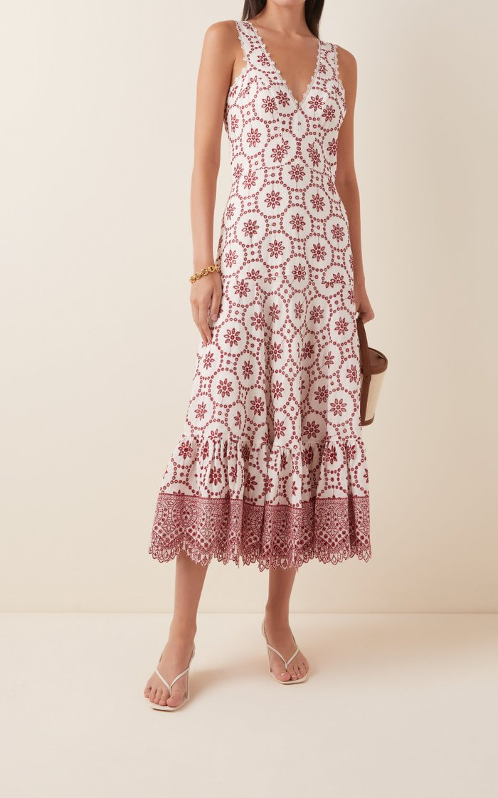 Eugenia Printed Linen Dress