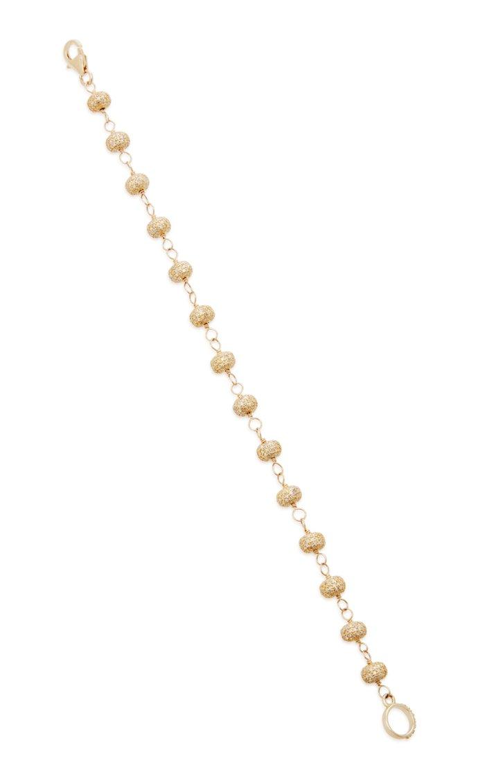 14K Gold And Diamond Bracelet