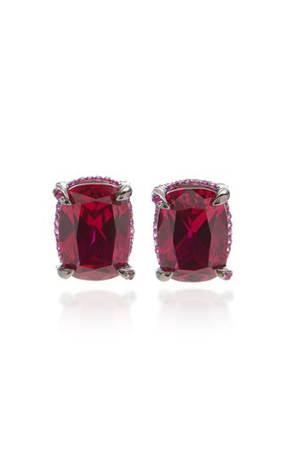 18K Gold Vermeil And Ruby Earrings