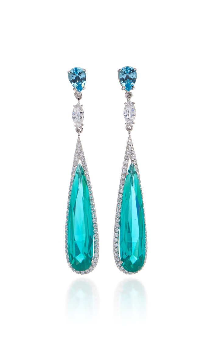Paraiba 18K Gold Vermeil And Multi-Stone Earrings