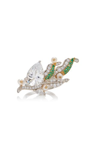 Lily Of The Valley 18K Gold Vermeil And Multi-Stone Ring