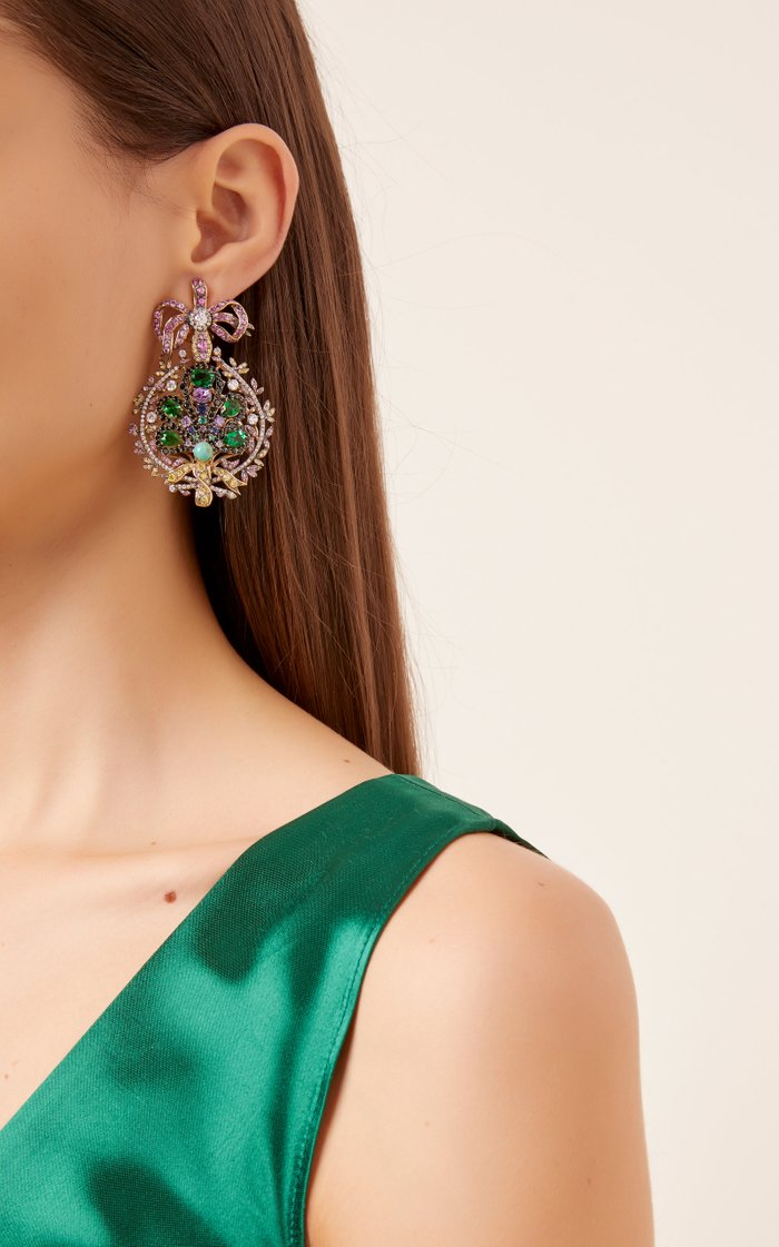 Mirage 18K Gold Vermeil And Multi-Stone Earrings