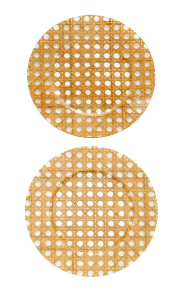 Set-Of-Two Rattan Charger Plates
