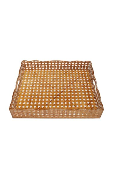 Large Rattan Gallery Tray