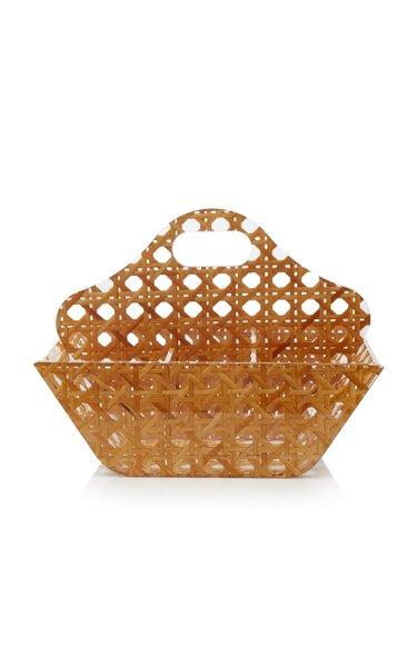 Small Rattan Cutlery Box
