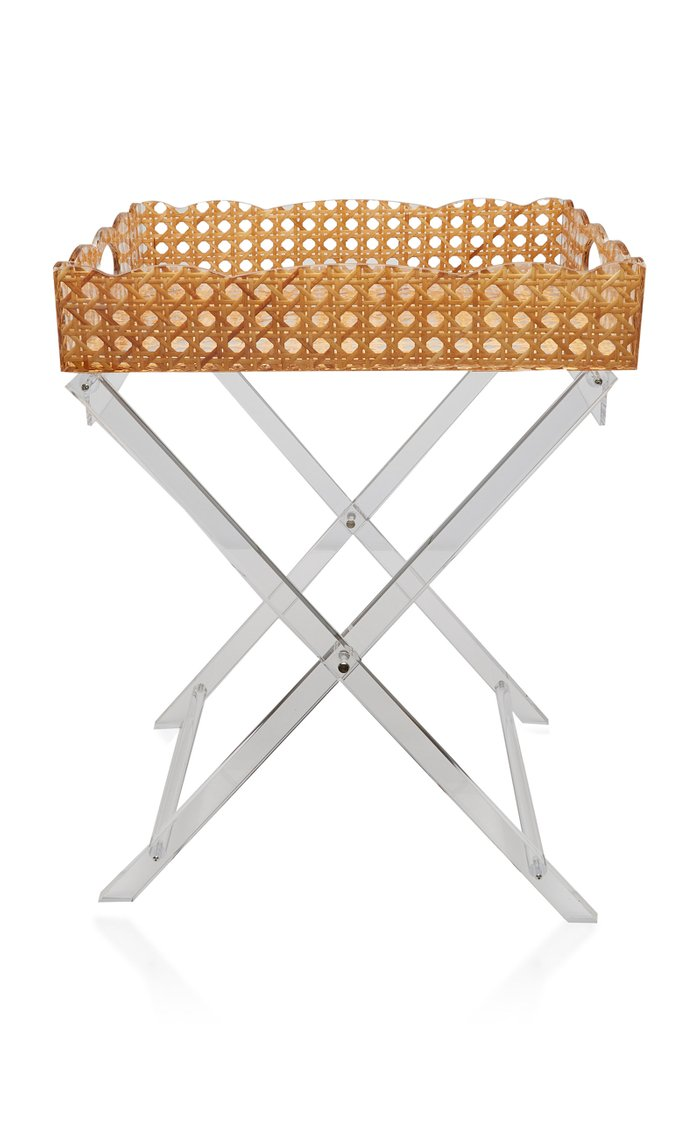 Gallery Woven Rattan Tray Table