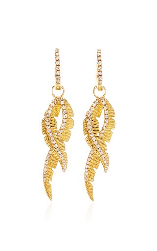 Adornment Yellow-Gold and White Diamond Earrings