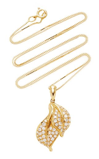 Spring Yellow-Gold and White Diamond Necklace
