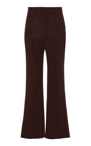 High-Rise Wide-Leg Mohair Wool Pants