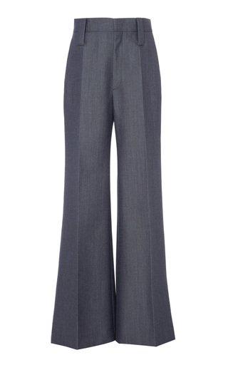 Mohair-Blend Wide-Leg Pants