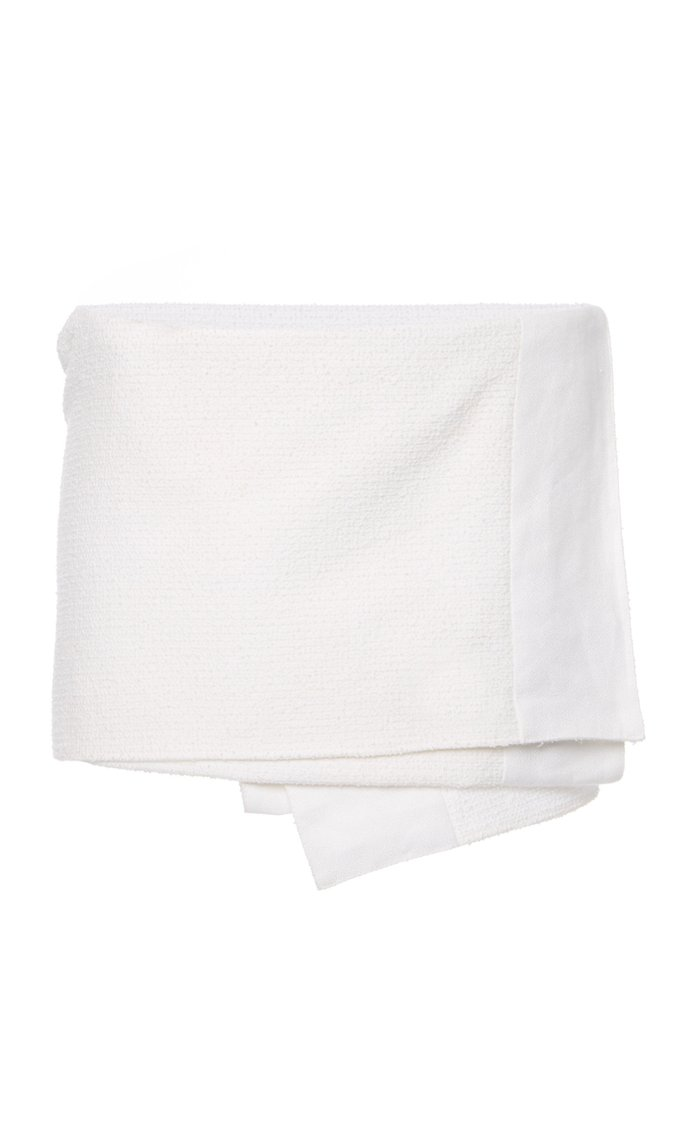 Asymmetric Wrap-Effect Cotton-Blend Mini Skirt