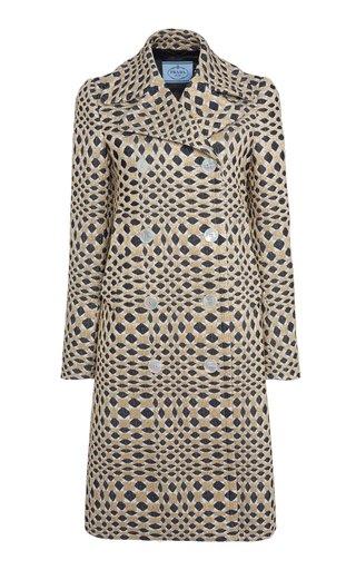 Matelassé Double-Breasted Coat