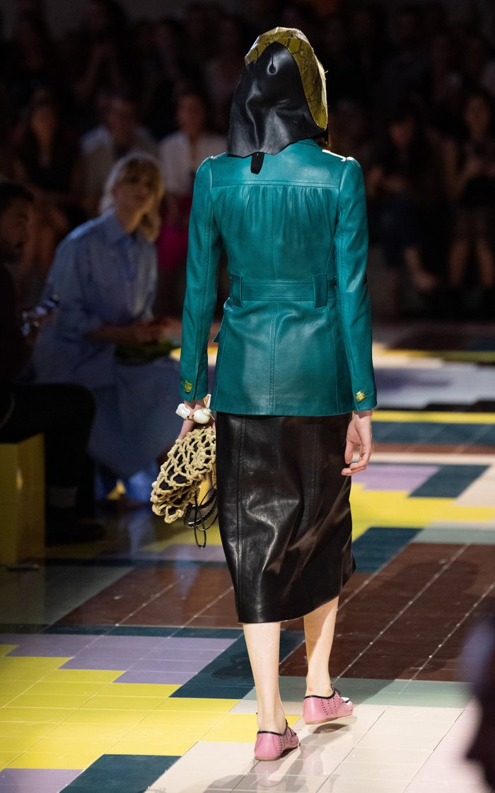 Embellished Leather Blazer