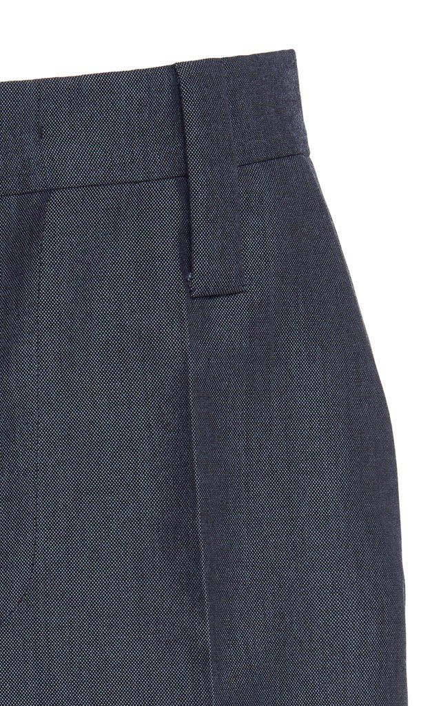 High-Rise Knee-Length Shorts