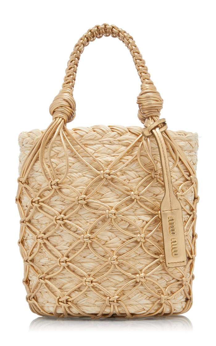 Woven Straw Bucket Bag