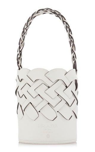 Leather Tress Bucket Bag