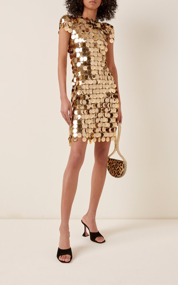 Chain Mail Sequined Mini Dress