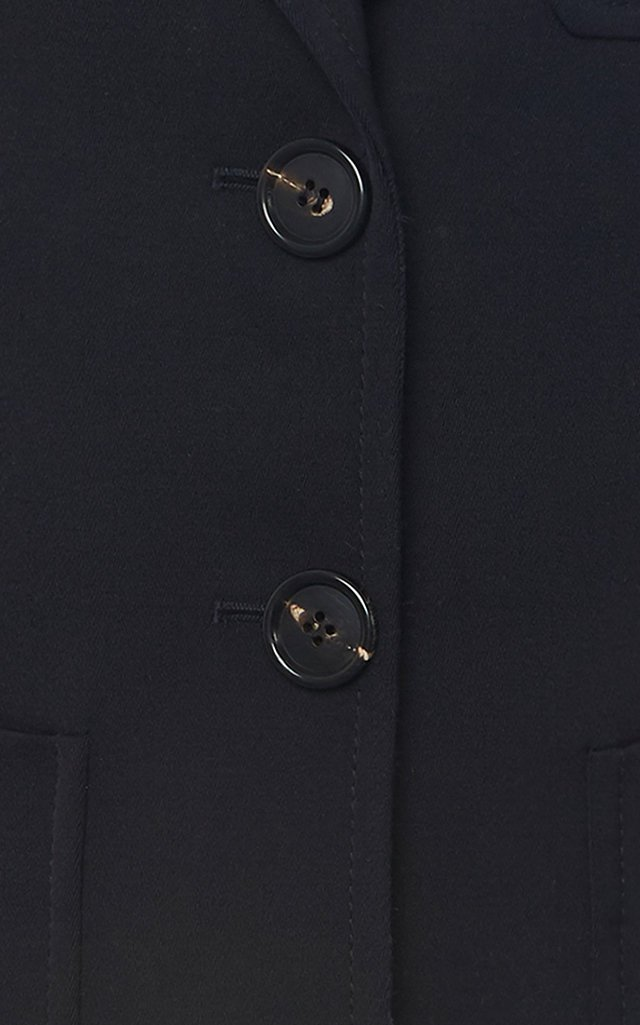 Notched Wool Blazer