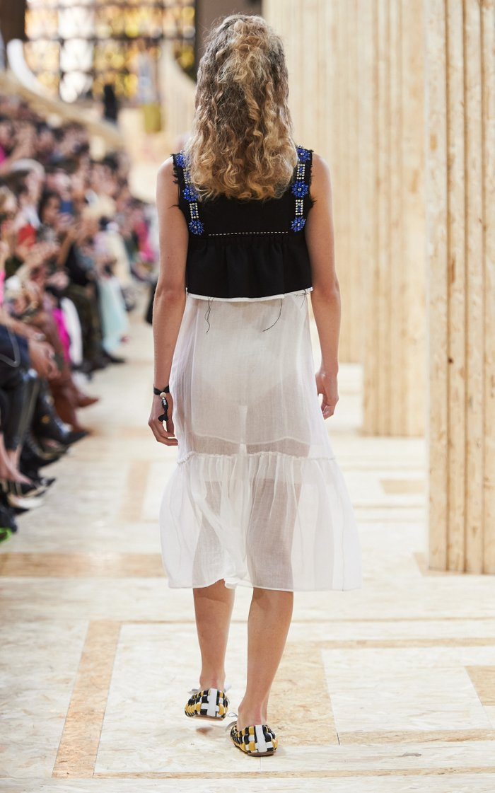 Semi-Sheer Chiffon Dress