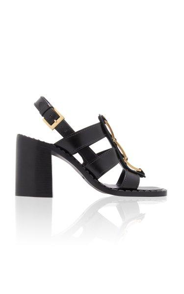 Embellished Leather Sandals