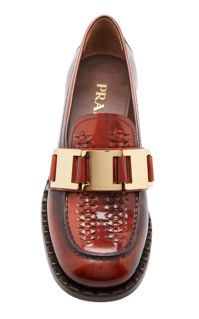 Leather Chain Loafers