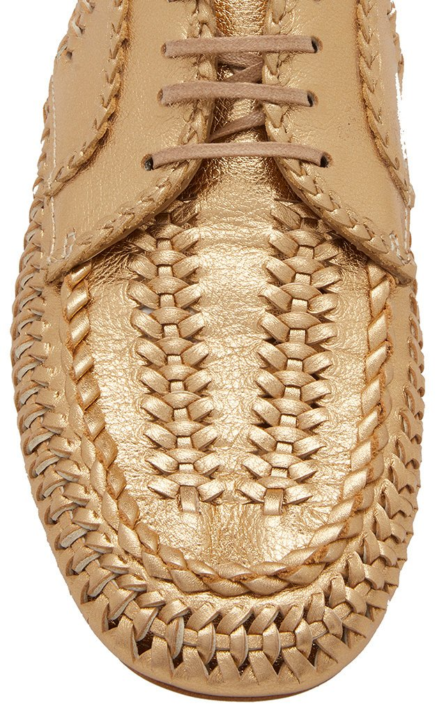 Metallic Leather Brogues