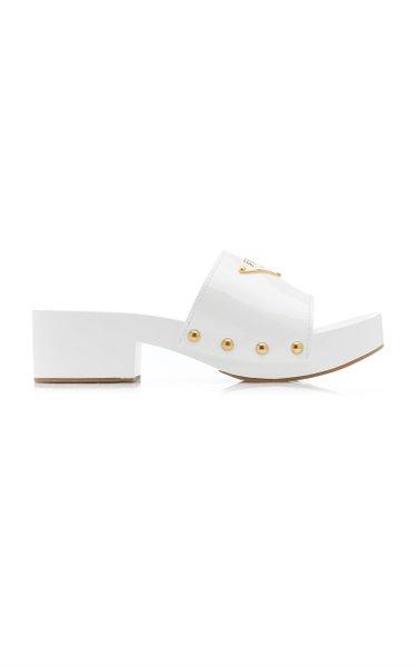 Embellished Patent Leather Platform Sandals