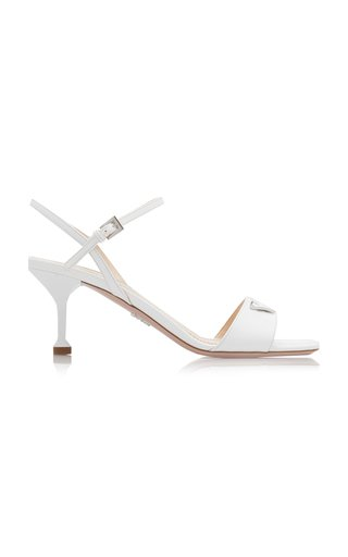 Appliquéd Patent Leather Sandals