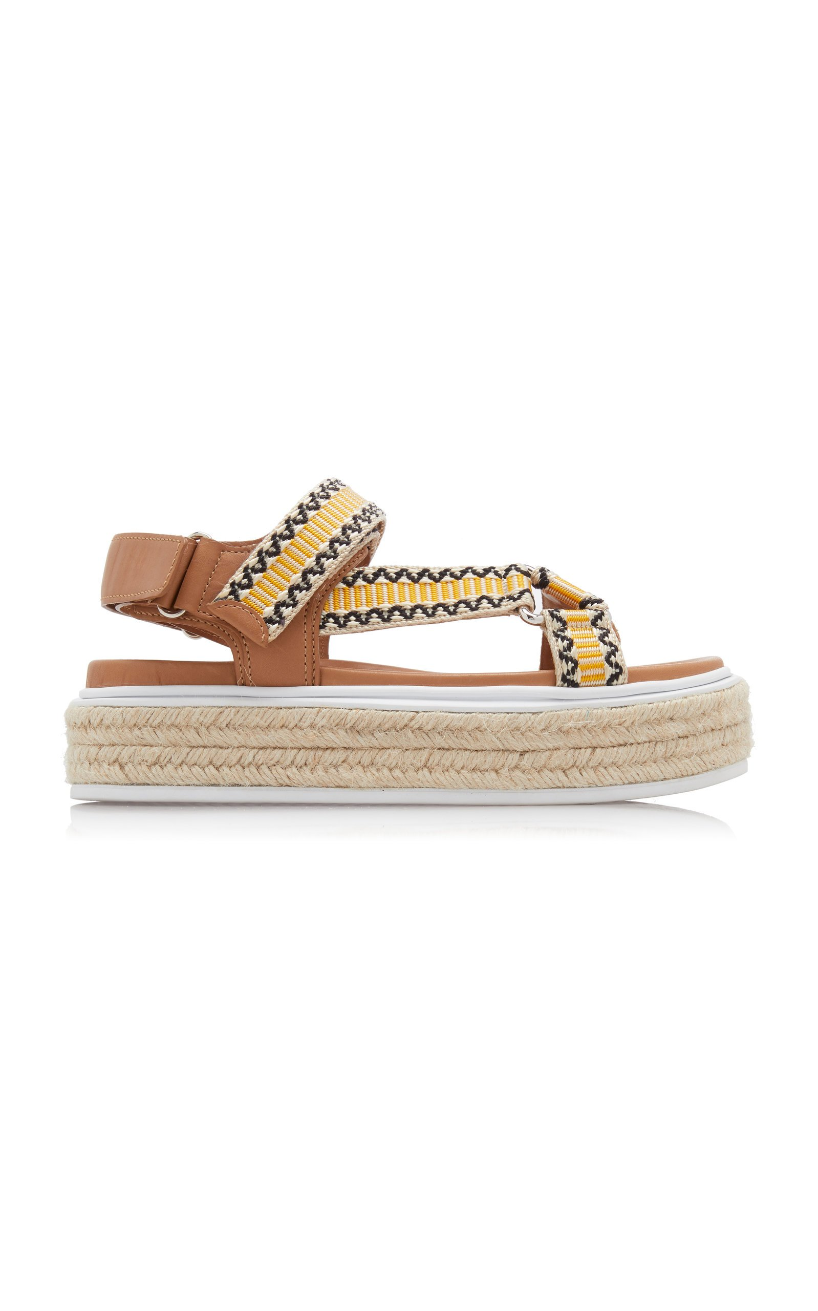 Printed Platform Sporty Sandals By