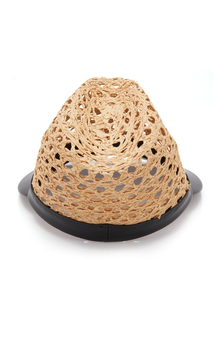 Embellished Raffia And Shell Hat