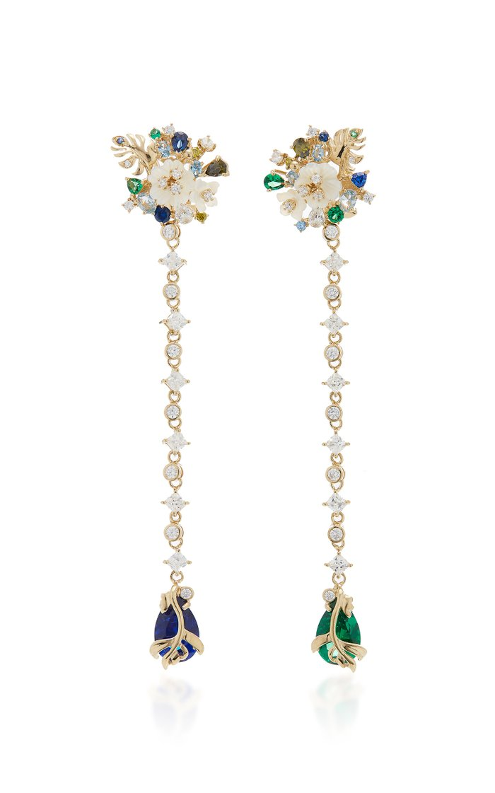 Paradise 18K Gold Vermeil And Multi-Stone Earrings