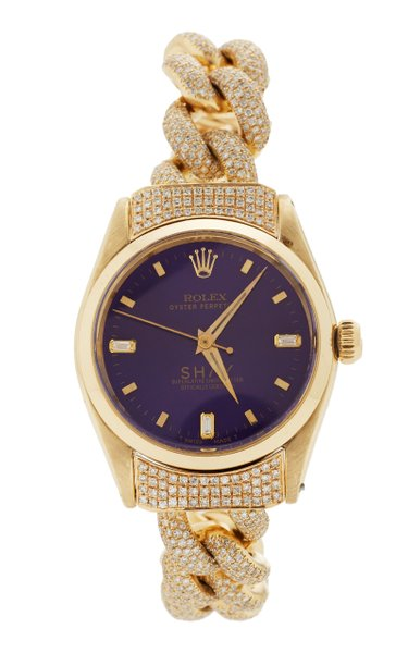 18K Yellow Gold Violet Custom Shay Vintage Rolex