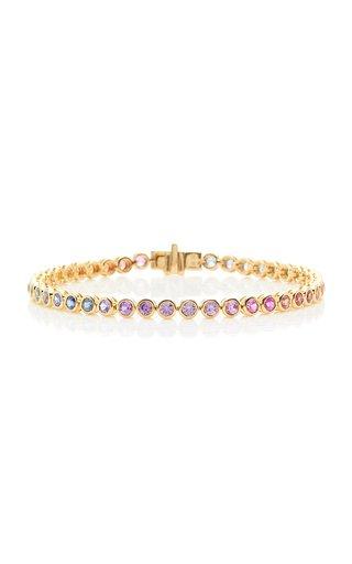 18K Gold And Sapphire Bracelet