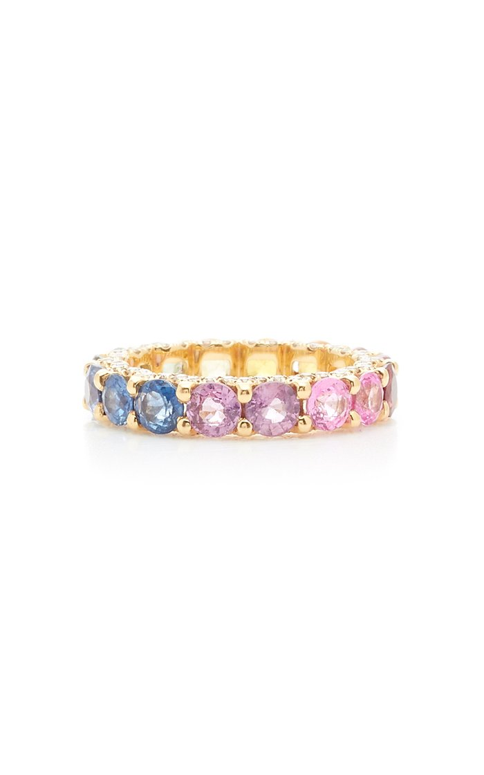 Holy 18K Gold, Sapphire And Diamond Ring