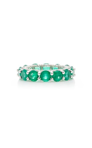 Holy 18K Gold, Emerald And Diamond Ring