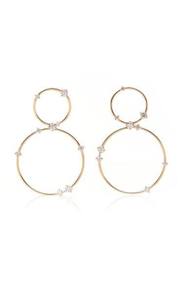 Circus 18K Yellow-Gold and Diamond Earrings