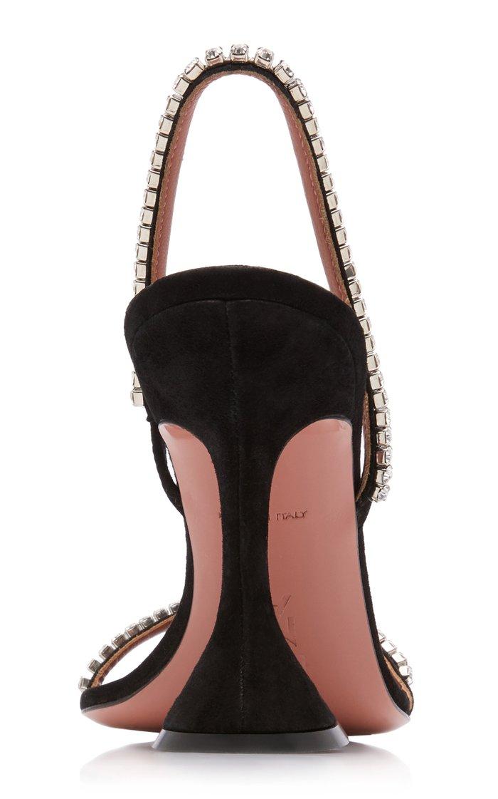Jade Embellished Suede Sandals