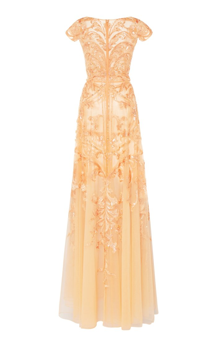 Sequin-Embellished Organza Gown