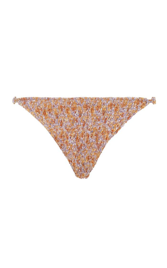Nusa Smocked Floral Bikini Bottom