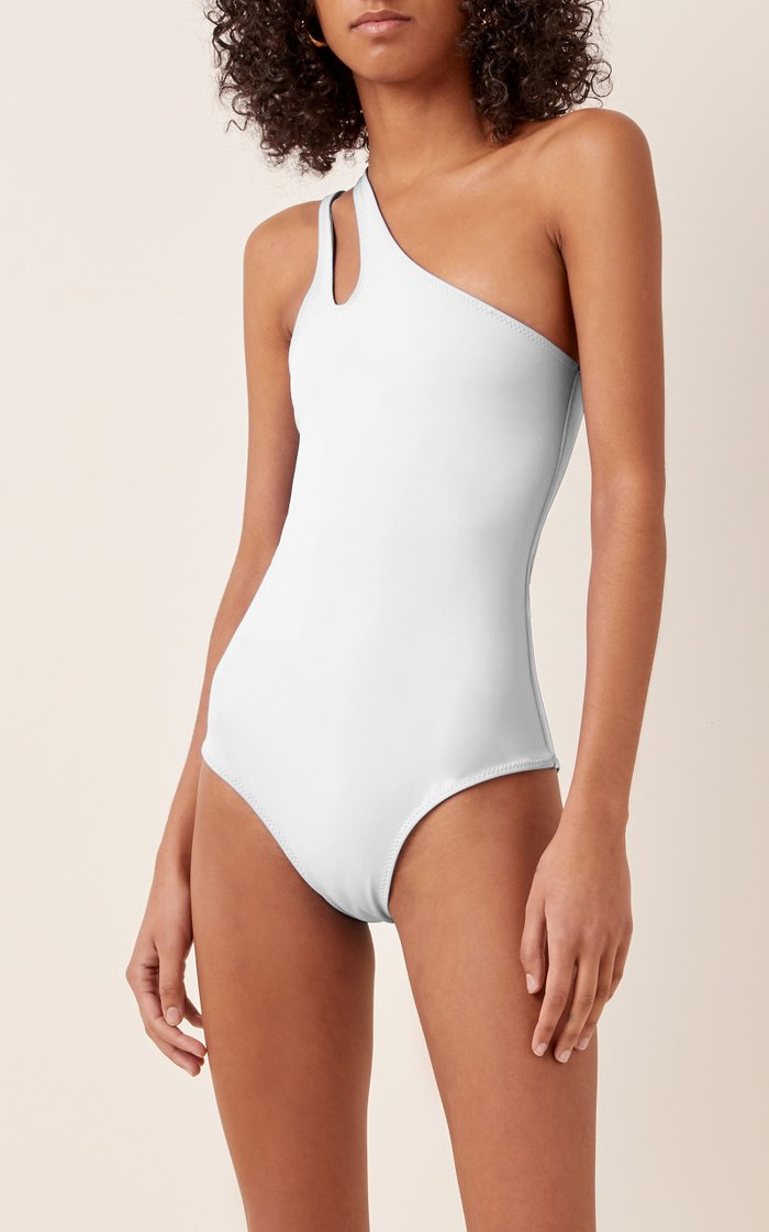 Coty Cutout One-Shoulder Swimsuit