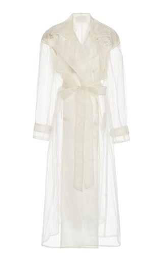 Allegra Appliquéd Organza Trench Coat