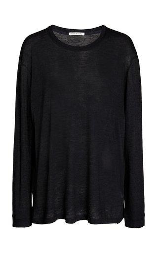Marlon Oversized Cashmere-Silk T-Shirt