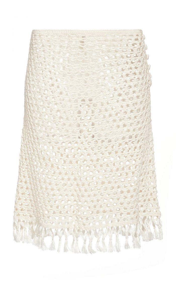 Crochet-Knit Mini Skirt