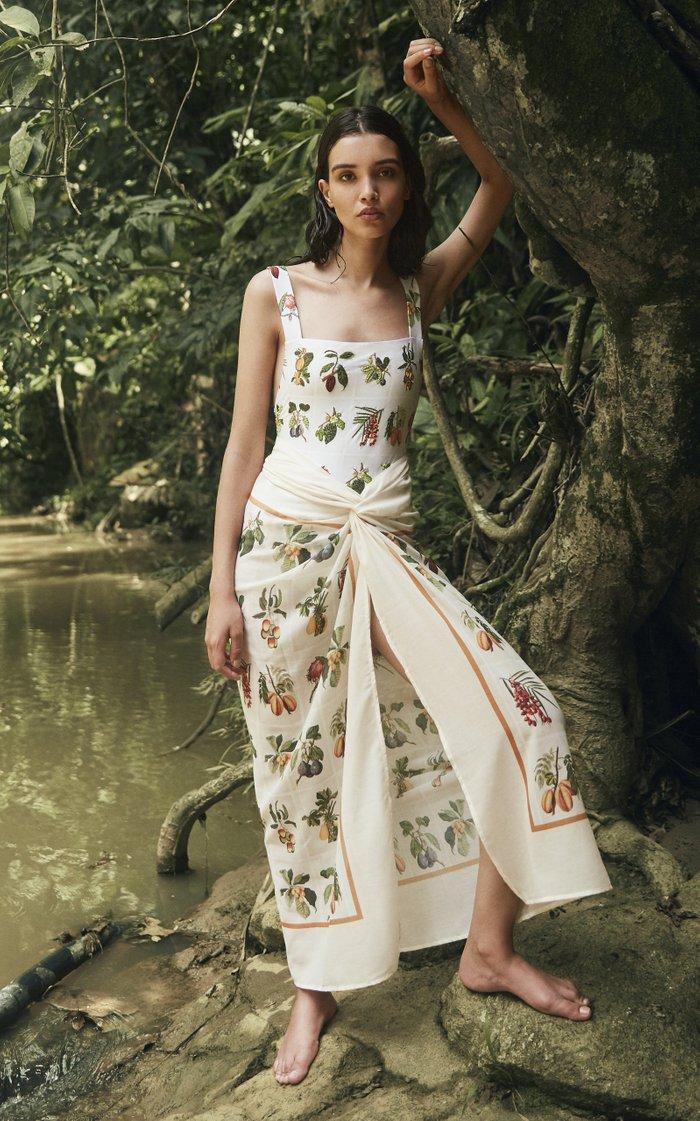 Printed Silk-Blend Pareo