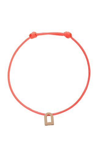 L'Arc Voyage 18K Rose Gold And Silk Cord Bracelet