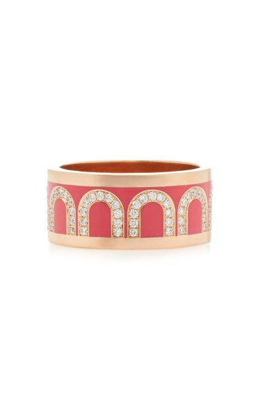 L'Arc 18K Rose Gold And Diamond Ring
