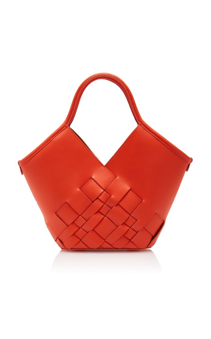 Colomba Small Woven Leather Tote