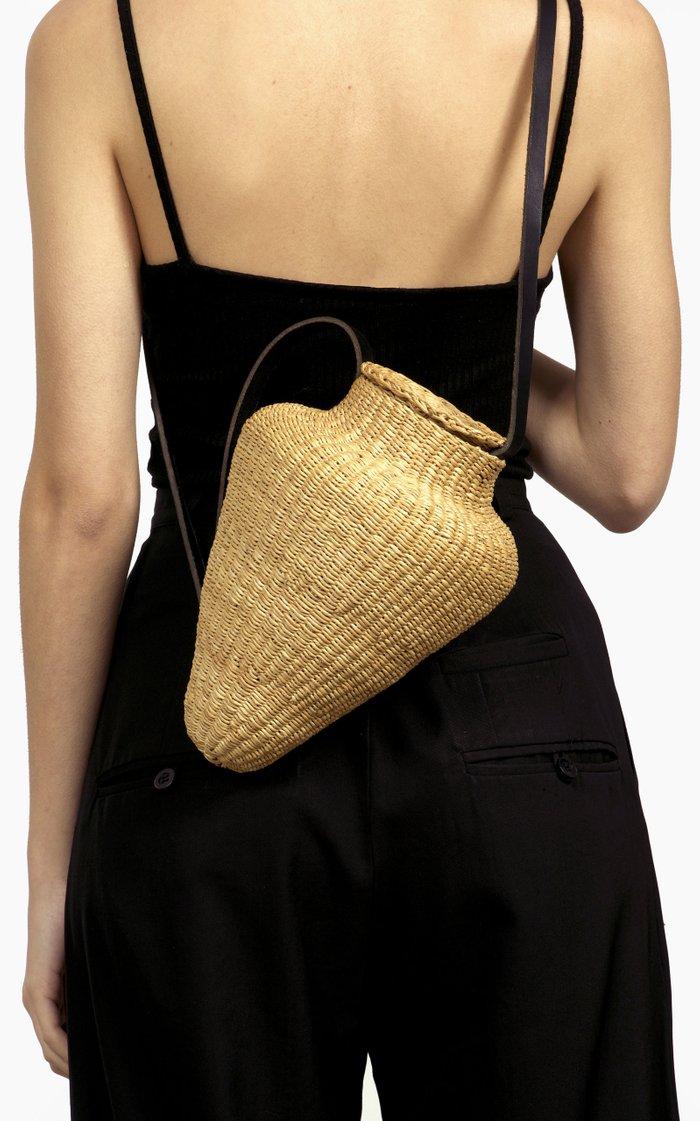Grand Amphore Straw Top Handle Bag
